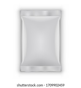 Simple White Glossy Packaging Transparent Isolated On White Background. EPS10 Vector