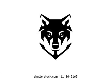 Simple Wolf Head Geometric Style