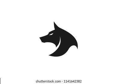 Simple Wolf Head Vector