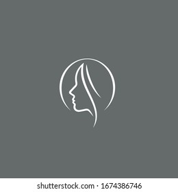 a simple Woman logo / icon design