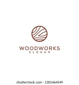 simple wood work logo design