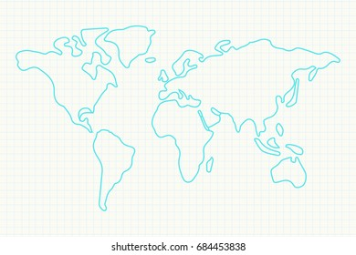 Simple world map images stock photos vectors shutterstock simple world map outline gumiabroncs Gallery