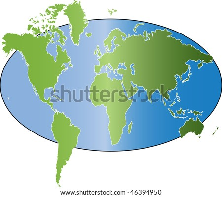 simple world map vector stock vector royalty free 46394950