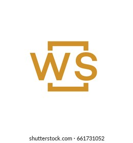 Simple WS initial Logo designs template vector illustration