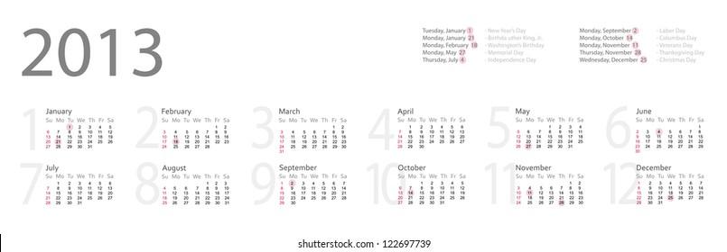 july 2013 calendar images stock photos vectors shutterstock