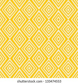 Simple yellow background with rombs. Vector Illustration.