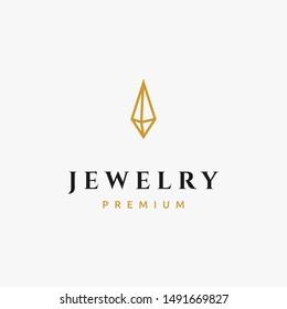 A simple yet luxury gem or diamond logo design inspiration