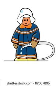 Simplies-series. Firefighter. Plain Illustrator 8.0 compatible .eps file.