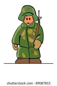 Simplies-series. Soldier. Plain Illustrator 8.0 compatible .eps file.
