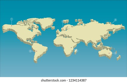 Abstract World Map Polygon Geometry Vector Stock Vector (Royalty ...