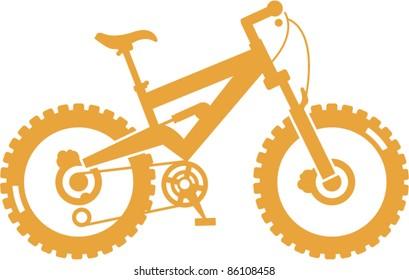 Simplified vector mountain bike