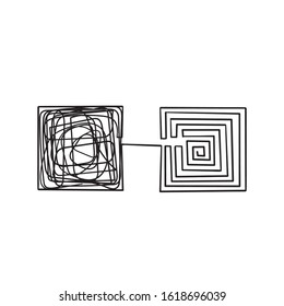 simplifying the complex illustration with hand drawn doodle line art style vector