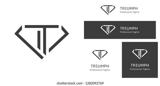 A simplistic logo design featuring a letter T inside a diamond   Free Fonts used -   Monda - https://fonts.google.com/specimen/Monda  Source Sans Pro - https://fonts.google.com/specimen/Source+Sans+Pr
