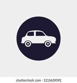 simply car icon. Vector illustration