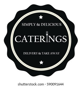 Simply and delicious caterings stamp sign seal logo
