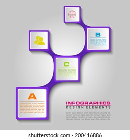 Simply minimal infographic template design. Vector illustration