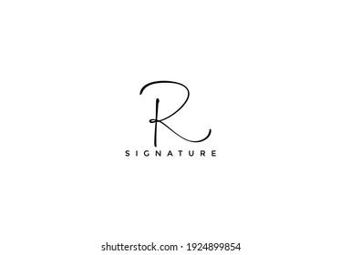 Simply Minimalist Initial R Signature Logo