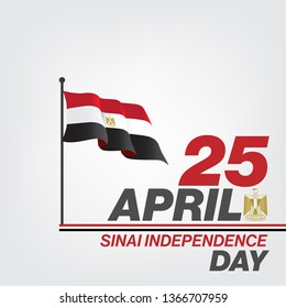 Sinai independence day - Sinai Liberation day 25 April Egypt War victories - egypt flag