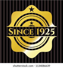 Since 1925 gold badge
