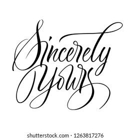 royalty free sincerely yours images stock photos vectors Film Resume Templates sincerely yours lettering handwritten modern calligraphy brush painted letters vector illustration template
