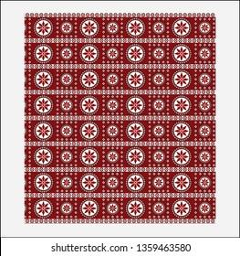 Sindhi Ajrak vector design