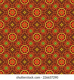 Sindhi ajrak vector pattern background.