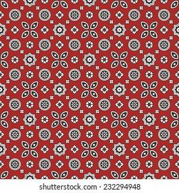 Sindhi Red Ajrak Pattern
