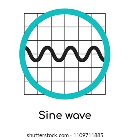Sine wave graphic icon vector isolated on white background for your web and mobile app design, Sine wave graphic logo concept