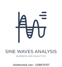 Sine Waves Analysis icon. Trendy flat vector Sine Waves Analysis icon on white background from Business and analytics collection, vector illustration can be use for web and mobile, eps10