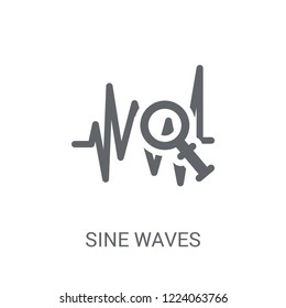 Sine Waves Analysis icon. Trendy Sine Waves Analysis logo concept on white background from Business and analytics collection. Suitable for use on web apps, mobile apps and print media.