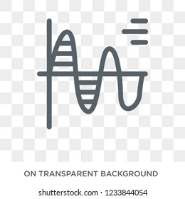 Sine Waves Analysis icon. Trendy flat vector Sine Waves Analysis icon on transparent background from Business and analytics collection.