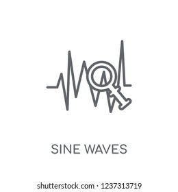 Sine Waves Analysis linear icon. Modern outline Sine Waves Analysis logo concept on white background from Business and analytics collection. Suitable for use on web apps, mobile apps and print media.