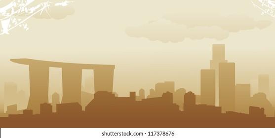 singapore abstract skyline