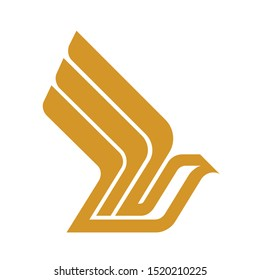 Singapore Airlines logo. Vector icon template.