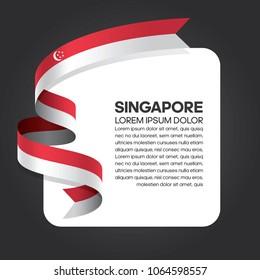 Singapore flag background