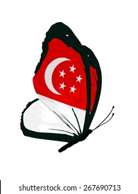 Singapore flag butterfly - vector