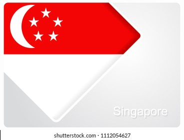 Singapore flag design background layout. Vector illustration.