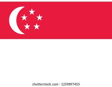 singapore flag vector