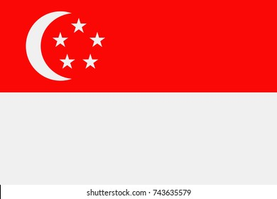 Singapore Flag Vector Icon - Illustration