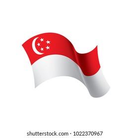 Singapore flag, vector illustration