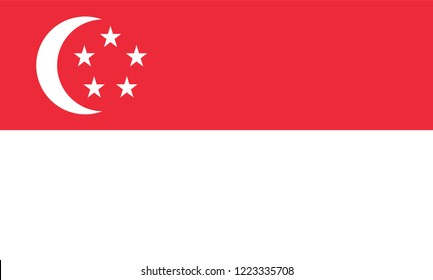 Singapore Flag, Vector image and icon