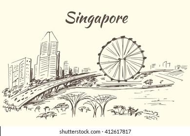 The Singapore Flyer - giant Ferris wheel in Singapore