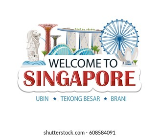 singapore header text sticker message header design