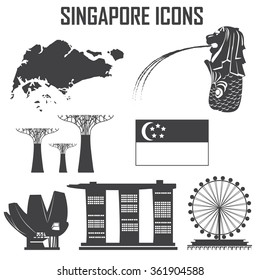 Singapore icon set.