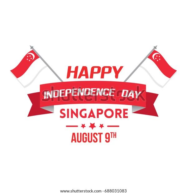 Singapore Independence Day Celebration Vector Illustration