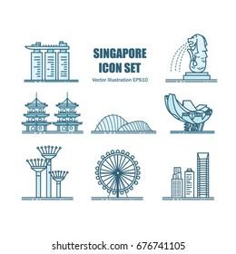 Singapore Landmarks.