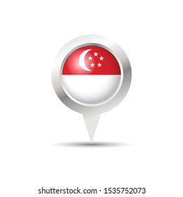 Singapore location icon vector design.Scalable vector design.