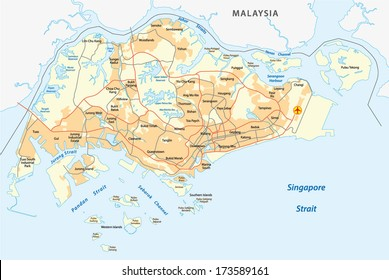 Singapore Map Images Stock Photos Vectors Shutterstock