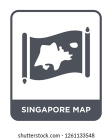singapore map icon vector on white background, singapore map trendy filled icons from Countrymaps collection, singapore map simple element illustration