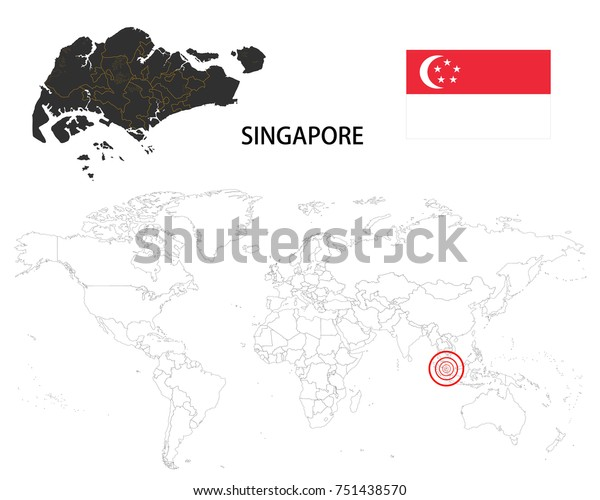Singapore Map On World Map Flag Stock Vector (Royalty Free ... on map of brazil on world, map of iceland on world, map of germany on world, map of china on world, map of congo on world, map of bermuda on world, map of malaysia on world, map of india on world, map of jamaica on world, map of jerusalem on world, map of paris on world, map of azerbaijan on world, map of thailand on world, map of jordan on world, map of afghanistan on world, map of greece on world, map of vietnam on world, map of scotland on world, map of faroe islands on world, map of great britain on world,